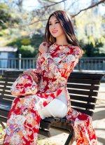 Áo dài hoa